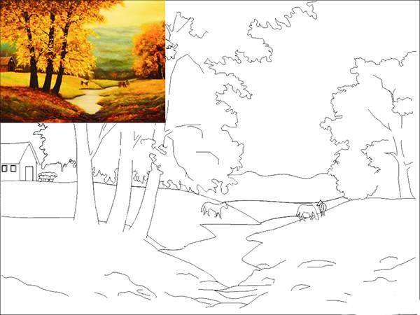 Как рисовать картины по контурам без цифр