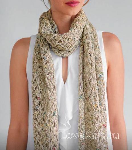 Красивые и модные узоры для вязания спицами разных шарфов