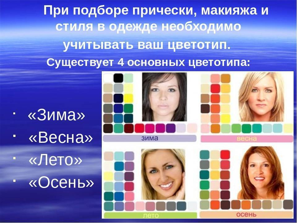 Какие бывают цветотипы внешности, и как определить свой?