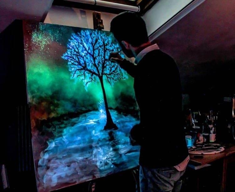 Флуоресцентные краски: свойства, применение, приготовление своими руками