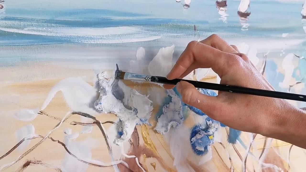 Техника акриловой живописи: основы