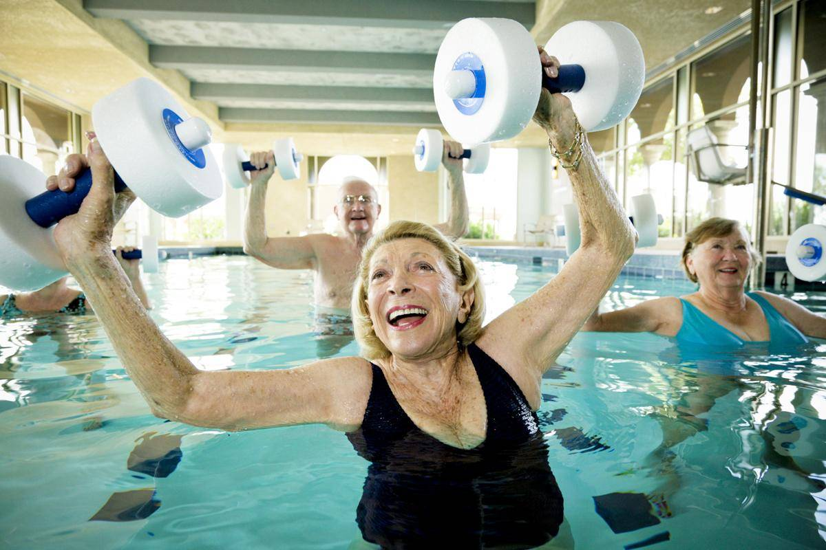 Аквааэробика — комплекс упражнений для похудения   megapoisk.com