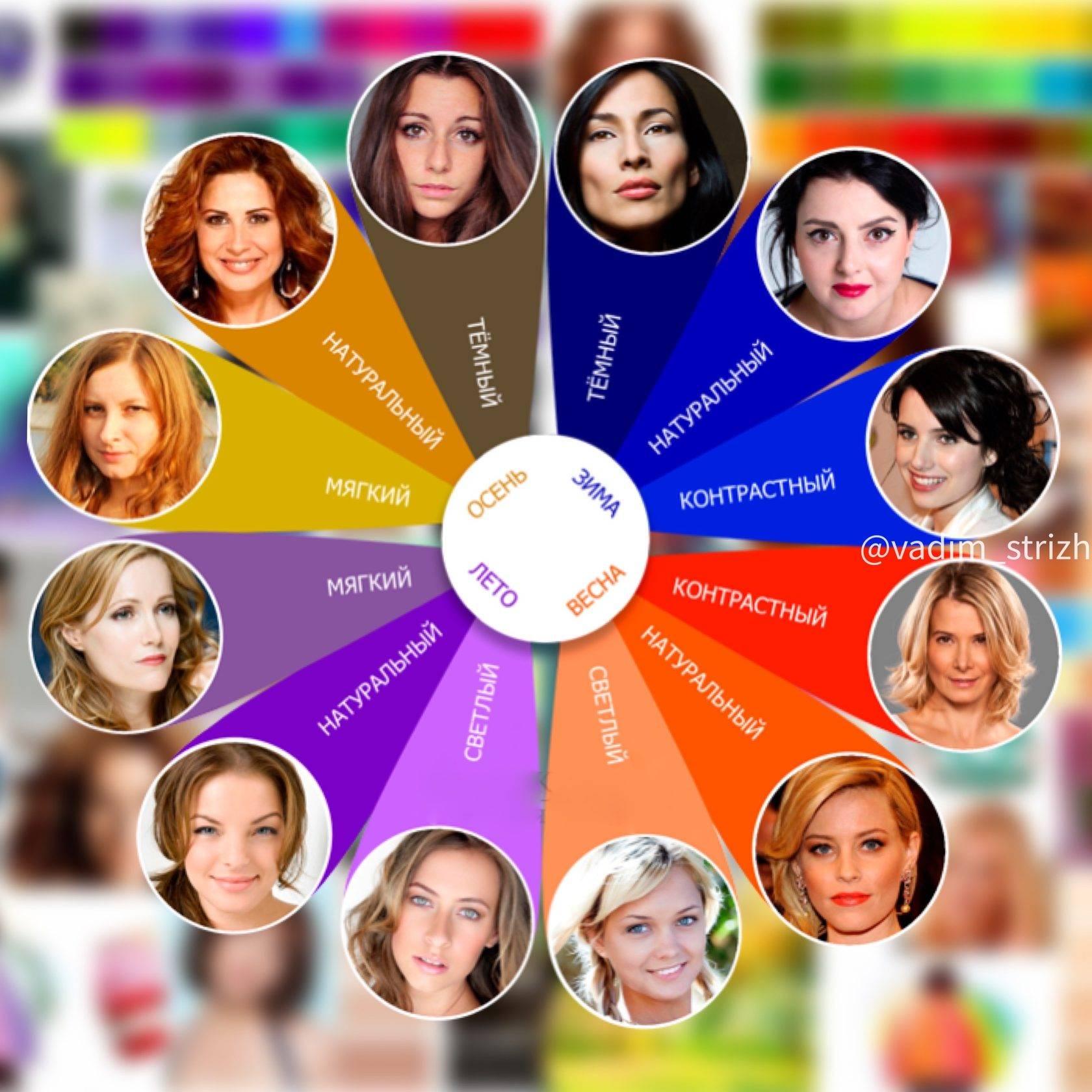 Шпаргалка для определения цветотипа внешности — приколись — смешные приколы — видео про животных, полезные истории, картинки о путешествиях