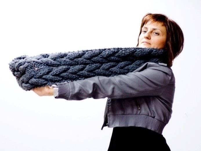 Вязание шарфа спицами пошаговое вязание шарфов на спицах