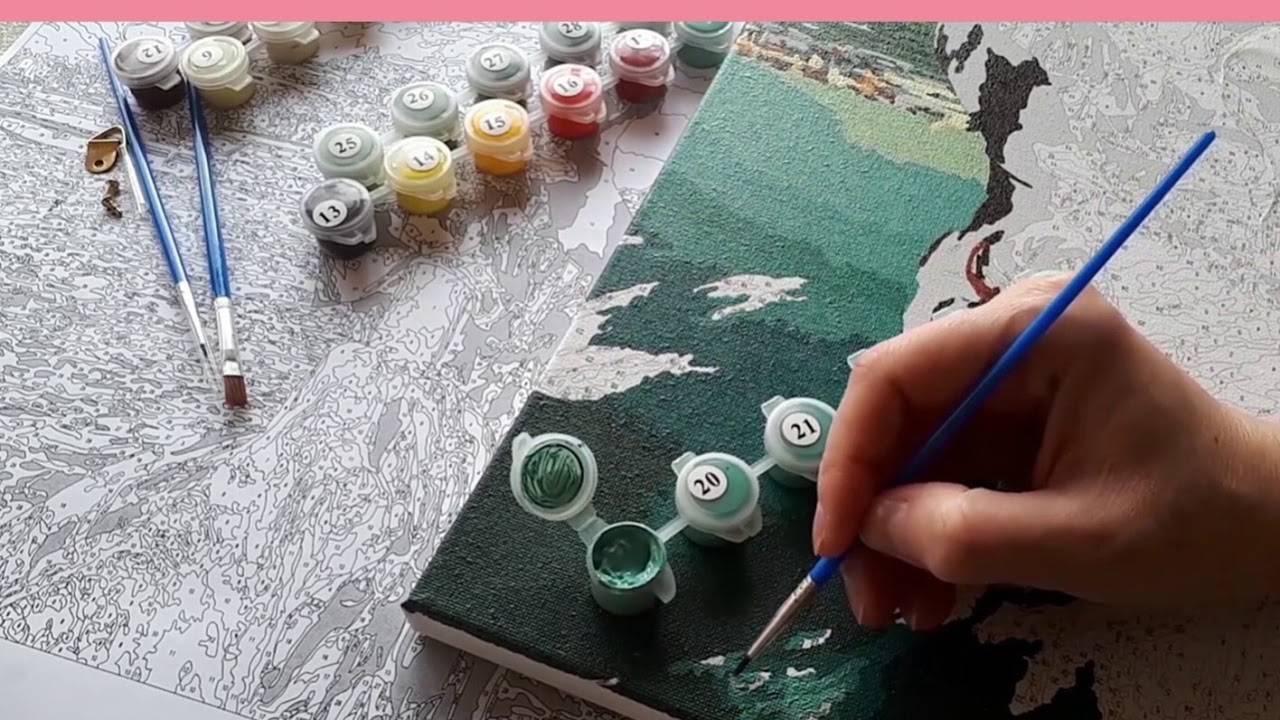 Рисование по номерам на холсте и картоне: полное руководство новичкам | крестик