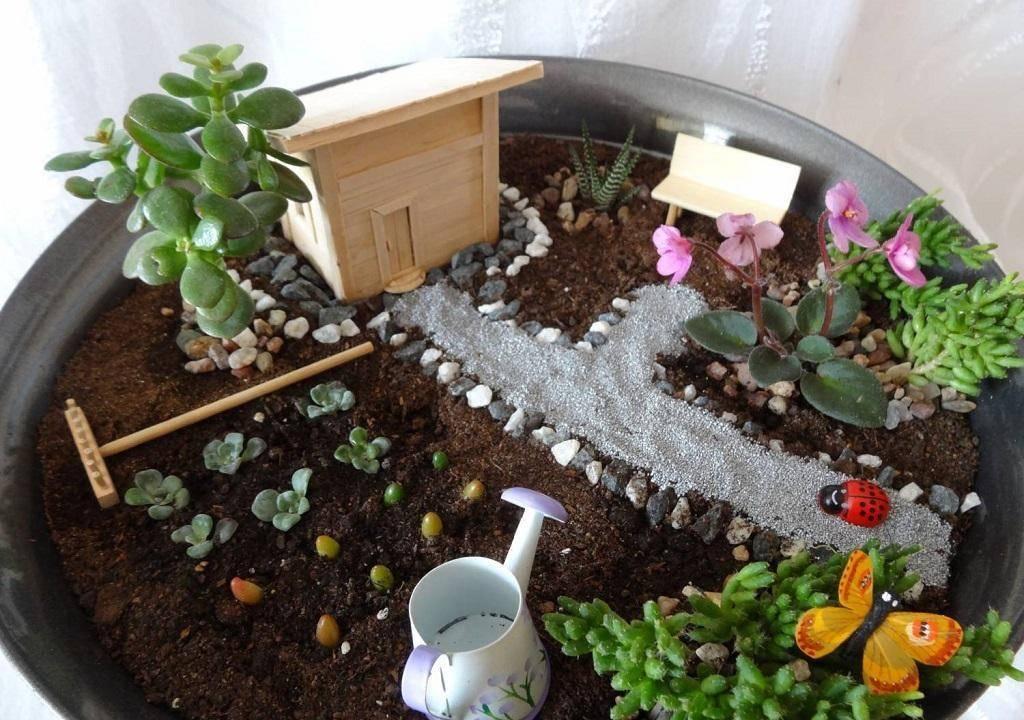 Дизайн мини сада на маленьком участке с фото