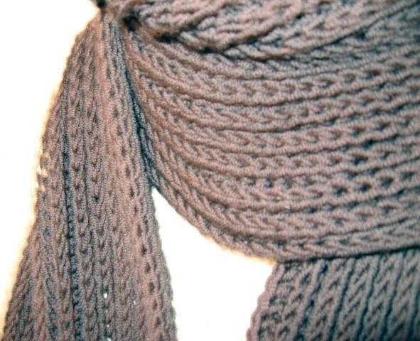 Гардероб мастер-класс вязание шарф без спиц и крючка за 30 минут пряжа