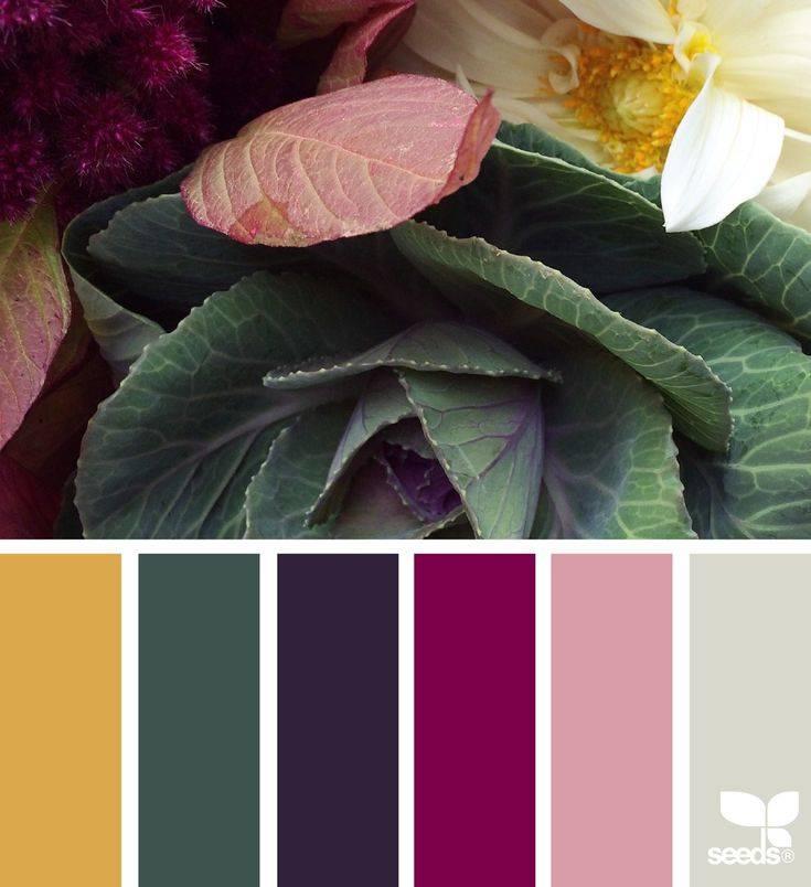 Сочетание различных цветов в интерьере