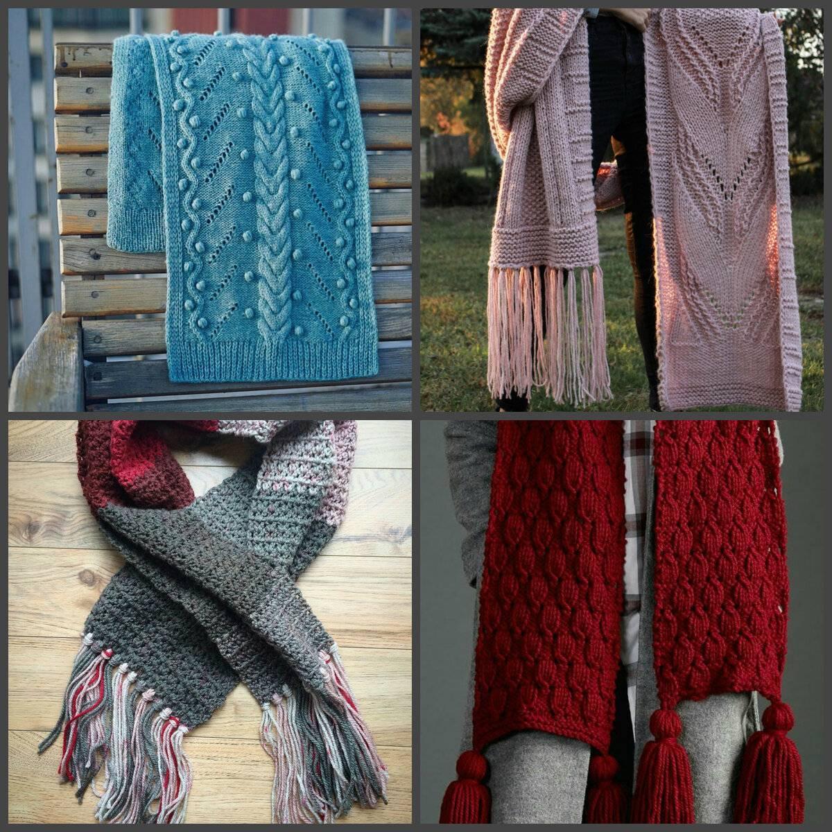 Снуд - вязание спицами, 50 схем и описаний для вязания, вязание для женщин