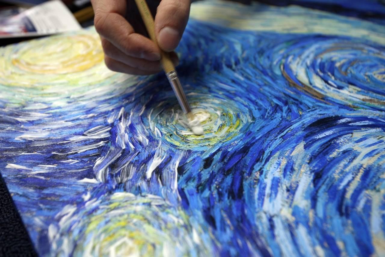 Рисование акрилом по холсту: процесс рисования картин по номерам | в мире краски