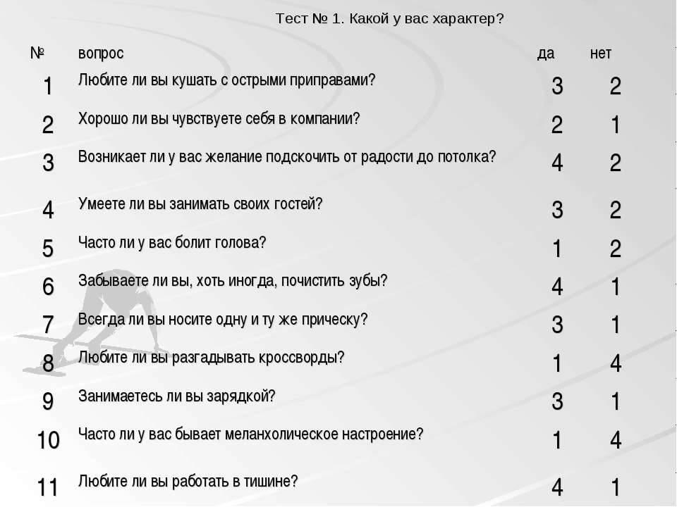 Личностный онлайн тест на подбор хобби