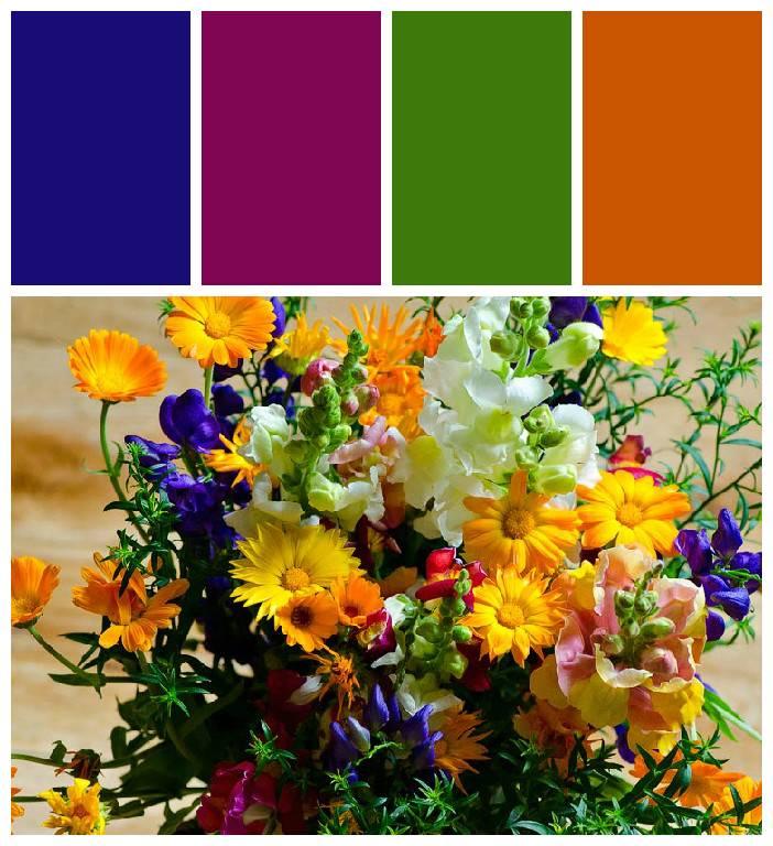 Гармоничные сочетания цвета