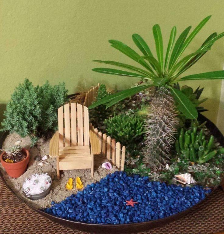 Как просто оформить мини-сад для комнатных растений