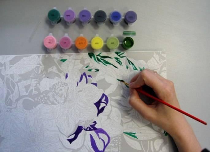 Как просто нарисовать картину красками по номерам?