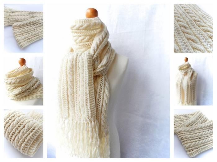 Как закончить вязание шарфа на спицах красиво, легко и просто