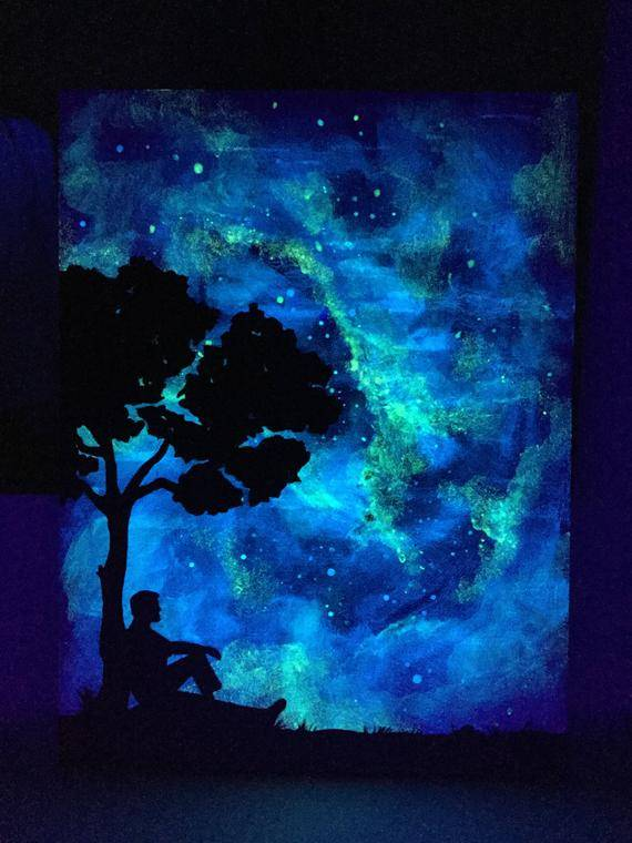 Как рисовать акриловыми и гашеными флуоресцентными красками