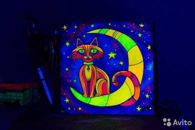 Флуоресцентная краска: характеристика и сфера применения, виды и способ нанесения, как сделать своими руками