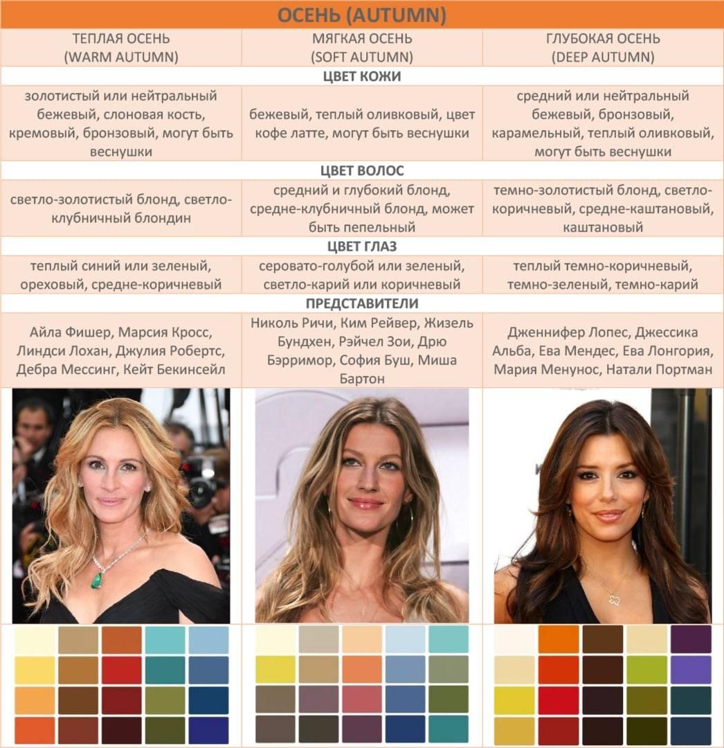 Цветотип и цвет волос: как определить свой из 12 вариаций