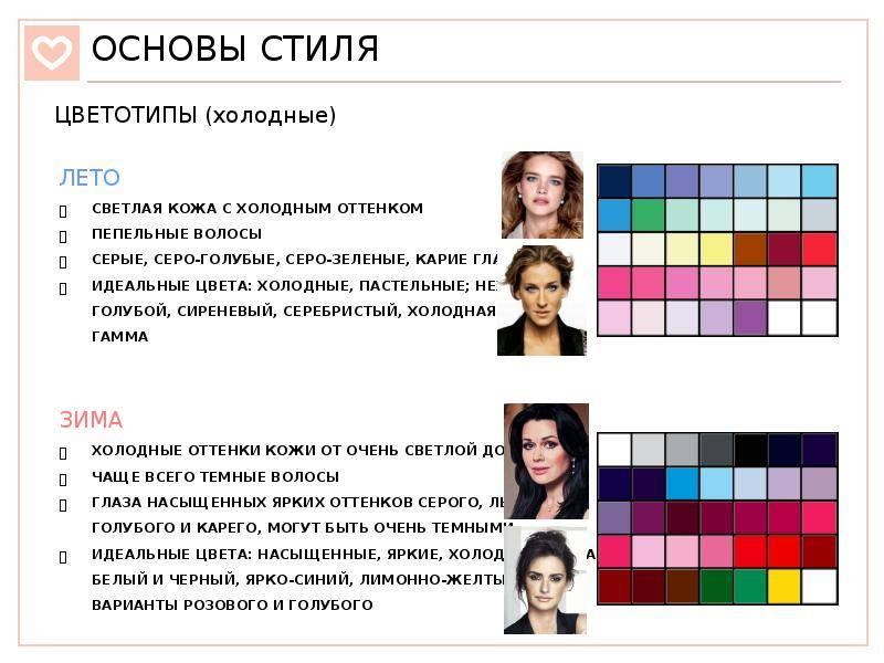Как определить свой цветотип внешности, какая бывает колористика, примеры, тест онлайн