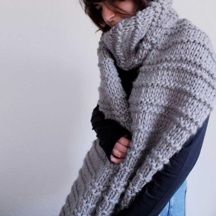 Подборка схем и узоров для вязания спицами красивых снудов
