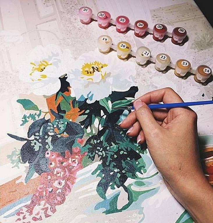 Картина красками по номерам: техники рисования (+24 фото)