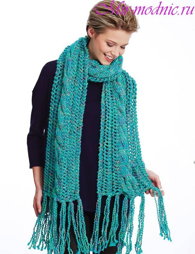 Ажурный шарфы, как связать, какие нитки выбрать, узоры для шарфов, вязание для женщин