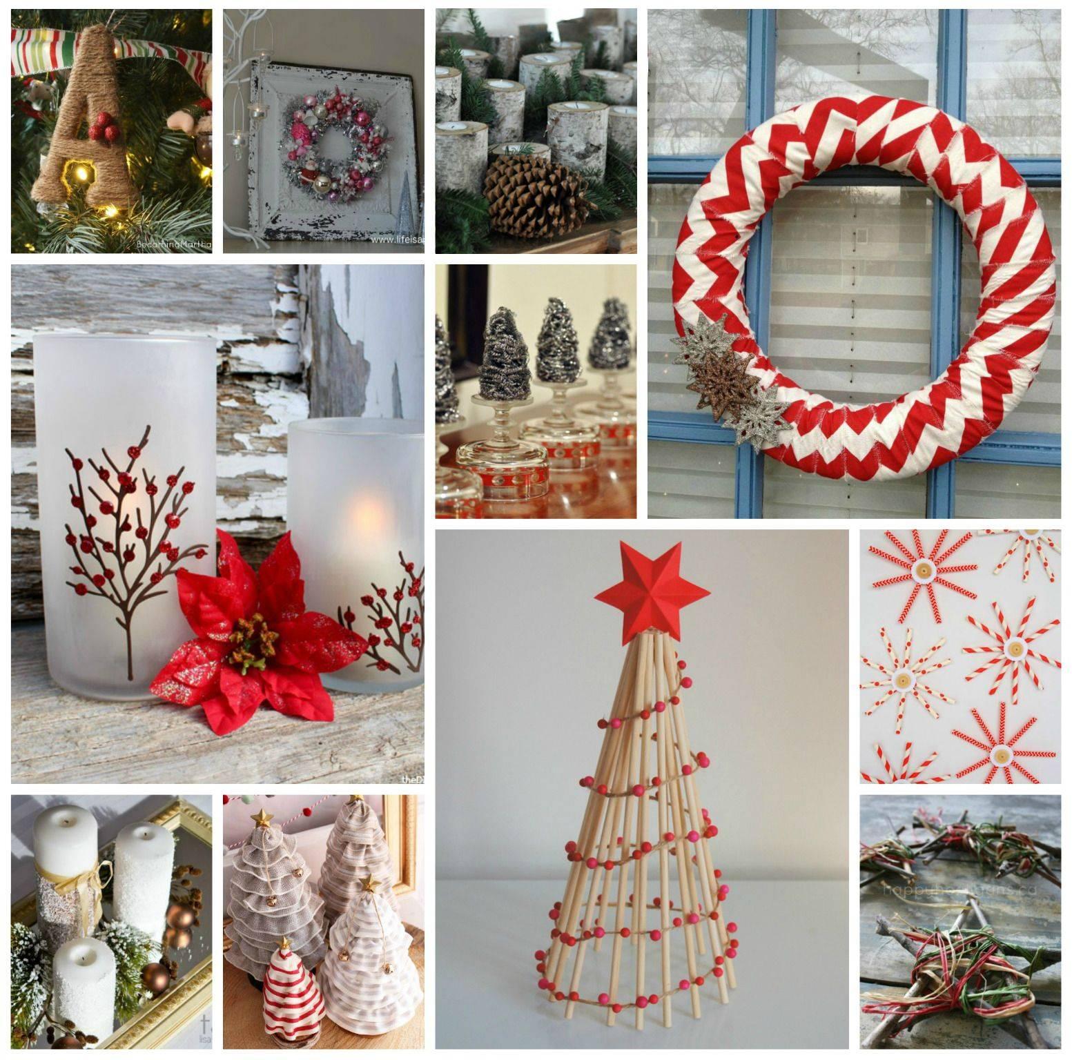 Рождественские украшения своими руками. мастер-класссы и идеи