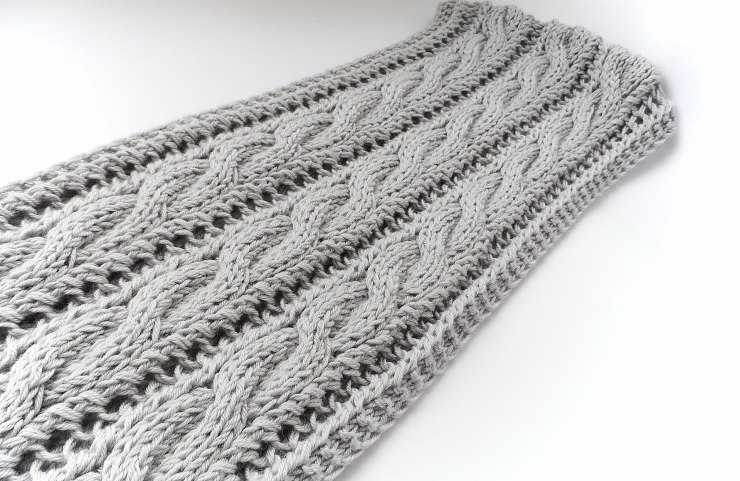 Как сделать кромку шарфа двусторонней, плотной и красивой