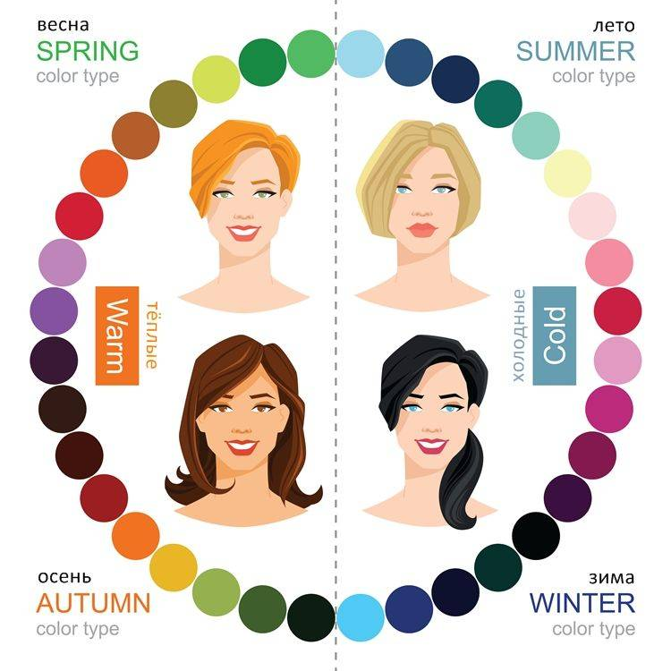 Цветотипы внешности – зима, весна, лето, осень, определение цветотипа и подбор одежды