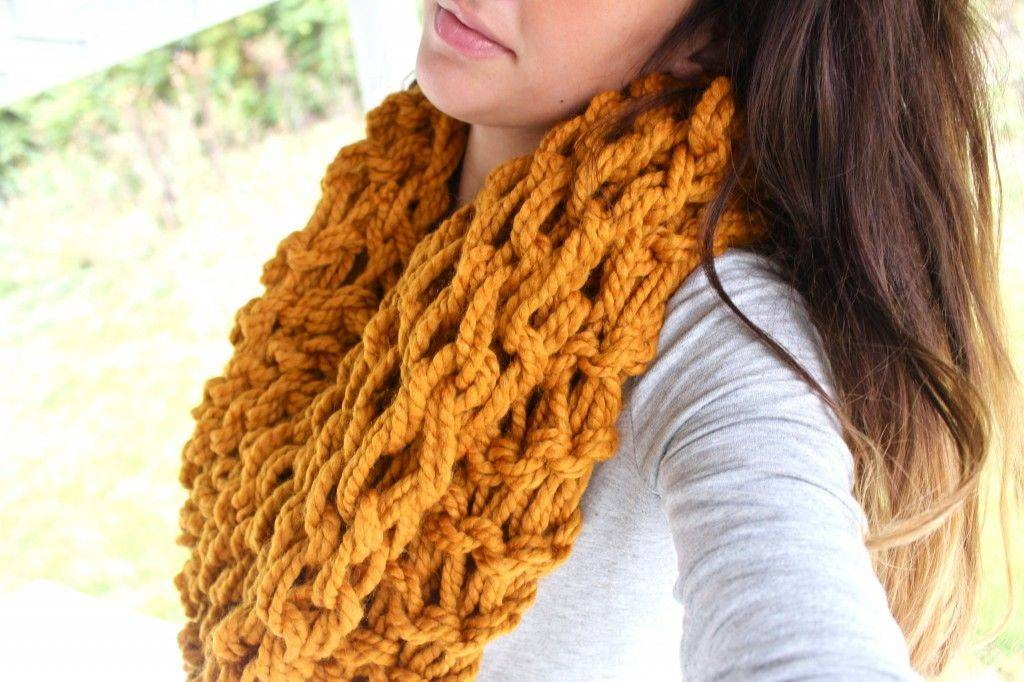 Как закончить вязание шарфа на спицах